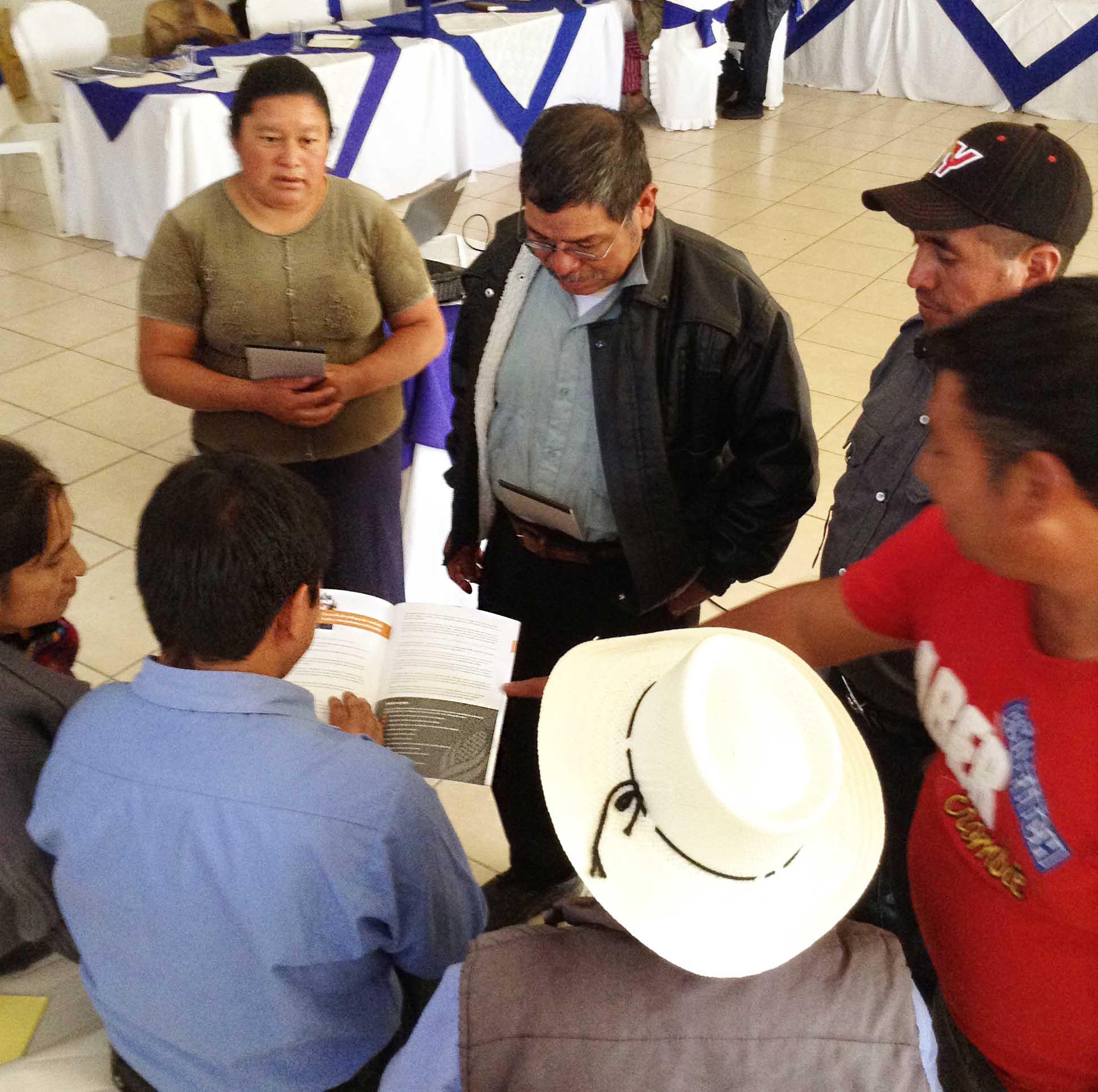 Training of local farmers in Guatemala